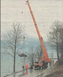 2003 – Fahrzeugbergung am Attersee